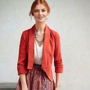 Anthropologie Cartonnier 'Red Miette' Blazer